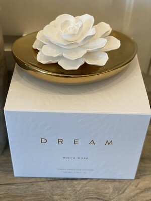 White Rose Dream Porcelain Diffuser