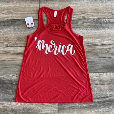 'MERICA Red Tank Top