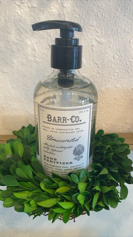Barr Hand Sanitizer 8oz unscented