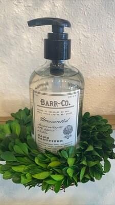Barr Hand Sanitizer 8oz unscented