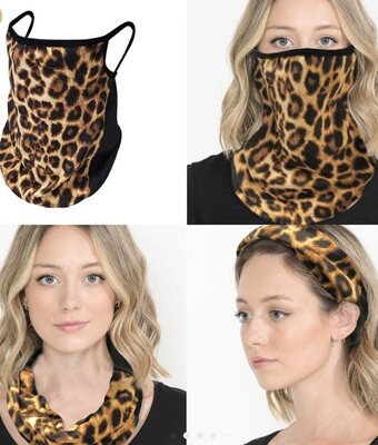 Leopard Gaiter Face Mask