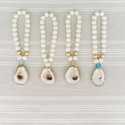 Petite Oyster Shell Blessing Beads