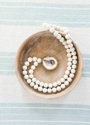 XL Oyster Blessing Beads - White