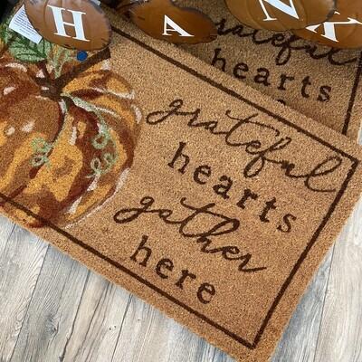 Grateful Pumpkin Doormat