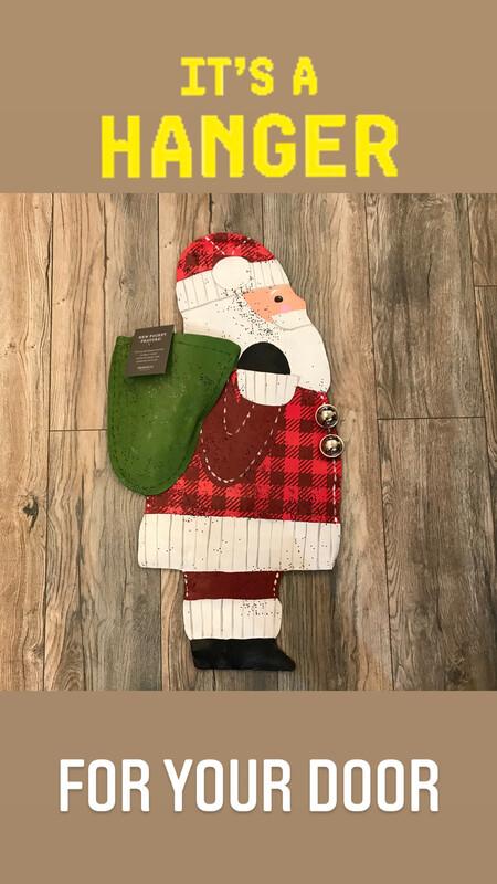 Santa w Pocket Door Hanger