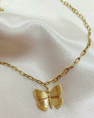 Pure Spirit Butterfly Neck - Gold Filled 16