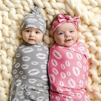 Little Sleepies Swaddle & Headband Set