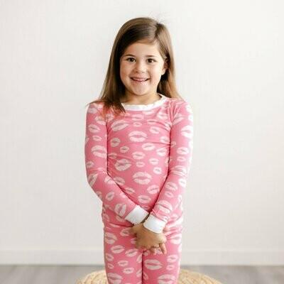 Pink Kisses 2 Piece Pajama Set
