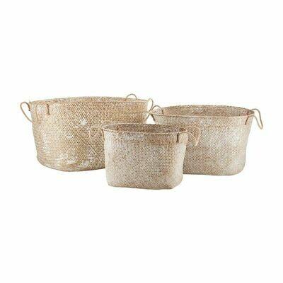 White Wash Seagrass Basket