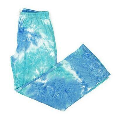 Hello Mellow Pants - Aqua Tie Dye