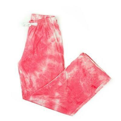 Hello Mellow Pants - Coral Tie Dye