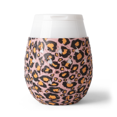 Wine To Go Pink Leopard