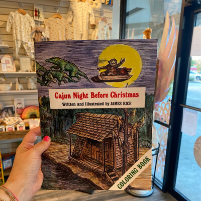 Cajun Night Before Christmas Coloring Book