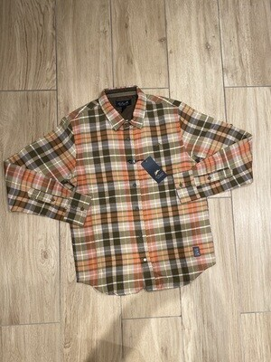 A.Tiziano- Joel / LONG SLEEVE BUTTON-UP PLAID WOVEN