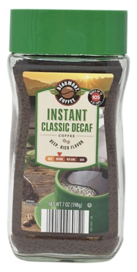 BC instant classic decaf coffee 227g