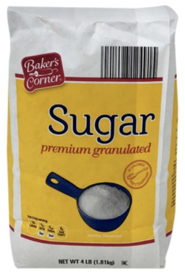 BC sugar premium granulated 4lbs