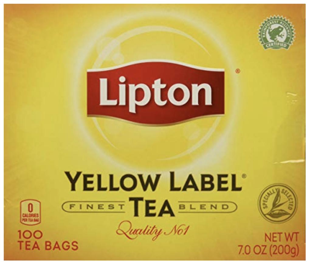 L Yellow Label Tea Bags ሻይ ቅጠል 200g*100TB