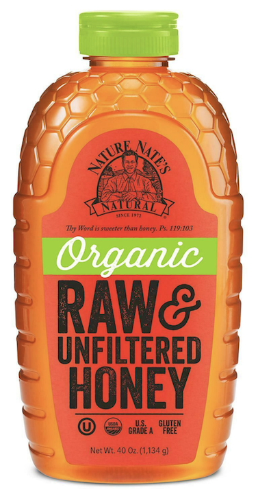 Honey organic raw & unfiltered 1.134g