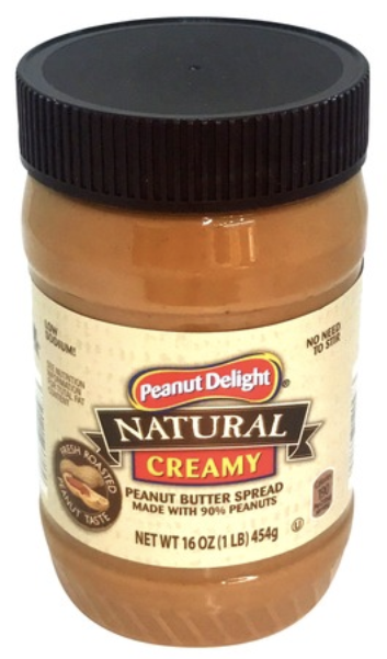 PD Natural Creamy Peanut Butter 454g