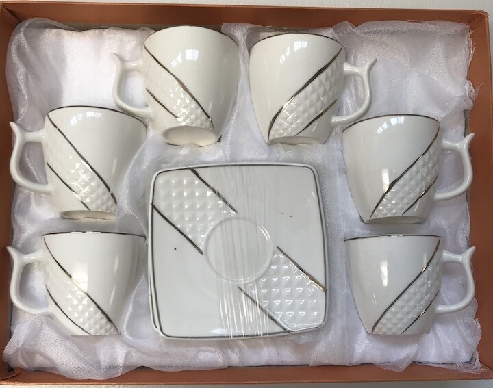 12 pcs Coffee Cups & Saucers