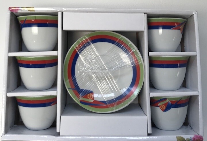12 pcs Eri flag Coffee Cups & Saucers