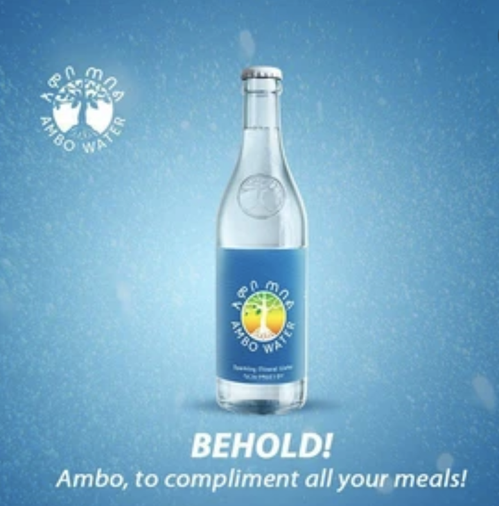 Ambo Sparkling Mineral Waterአምቦ ጠበል btl 475ml