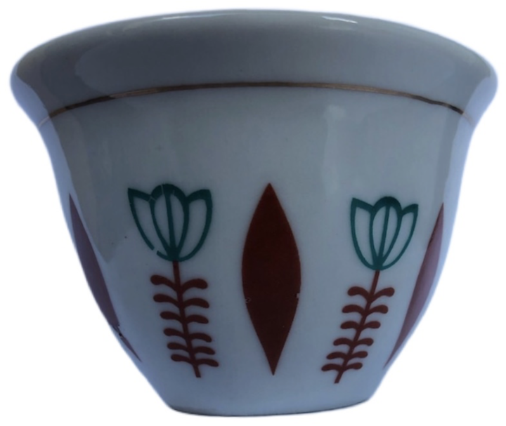 12 pcs Ethio Traditional Red Leaf Coffee cups ፍንጃል