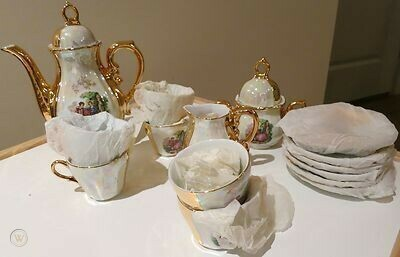 17 pcs tea set fine porcelain