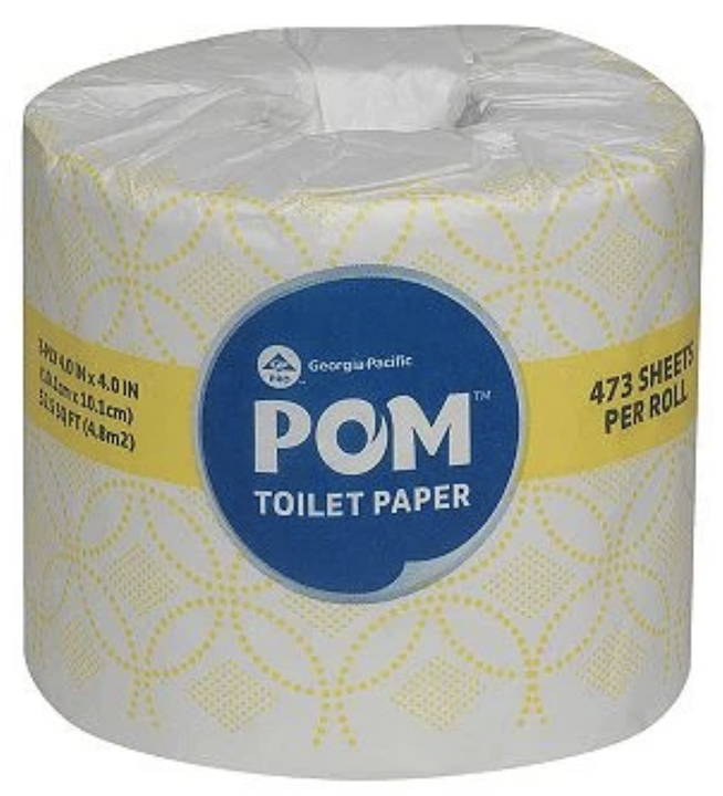 Pom Toilet Paper 473 sheets per roll