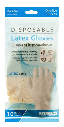 Disposable Latex Gloves 10pack One Size Fits All