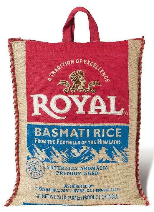 Royal Basmati Rice 20 LBS