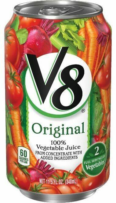 V8 Original 100% Vegetable Juice 340ml can