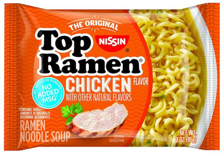 Nissin Top Ramen Chicken Noodles Soup