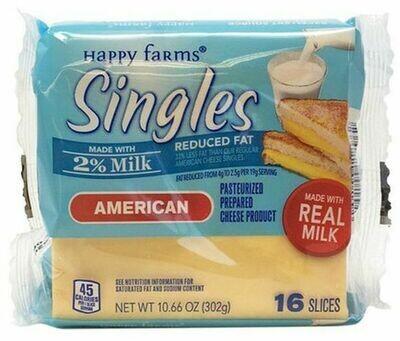 Happy Farms 2% Milk Singles American Cheese