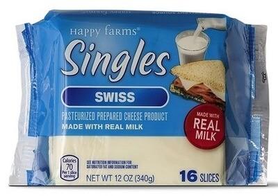 Happy Farms Swiss Cheese Singles
