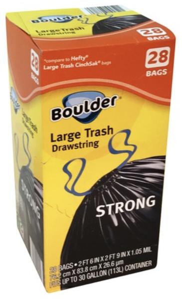 Boulder Large Trash Drawstring Bag 30gx28bags