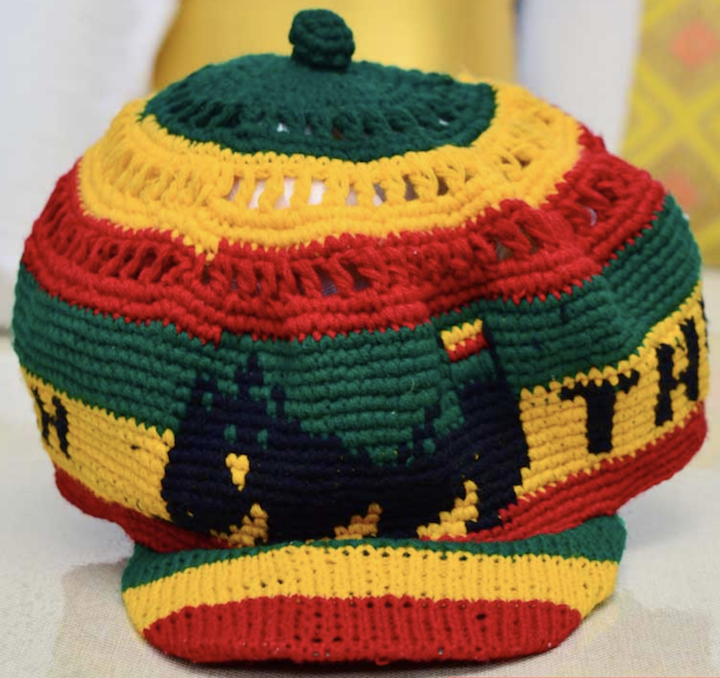 Unisex Ethio flag color knitted cap
