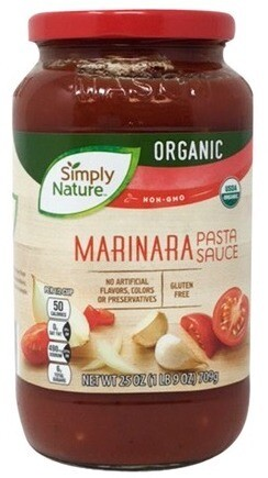 Simply Nature Marinara Pasta Sauce709g