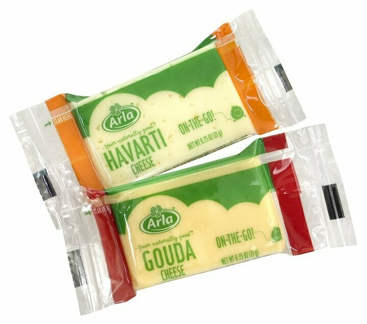 Arla Havarti or Gouda Snack Cheese Bars 21g