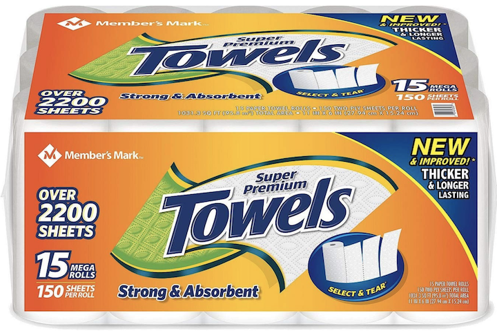 Member's Mark Paper Towels 150 sheets/roll