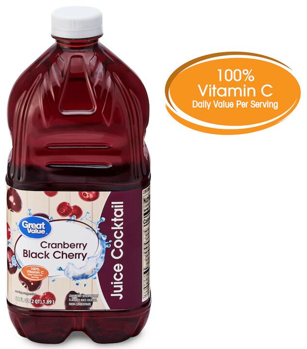 Cranberry Black Cherry Juice Cocktail 64oz