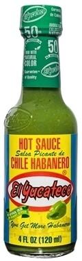 Green Hot Sauce Chile Habanero 120ml