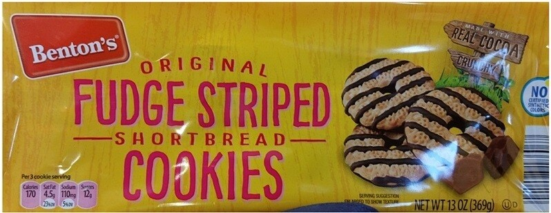 Benton's Fudge Striped Cookies 13oz
