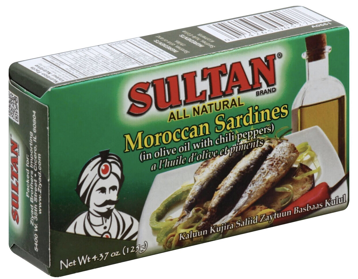 Sultan sardines in olive oil with chili peppers 4.37oz