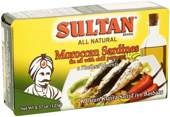 Sultan Sardines in oil with Chili peppers 4.37oz