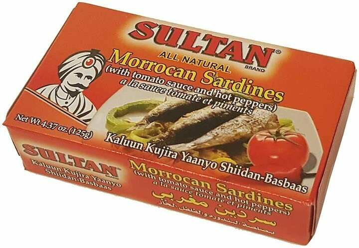 Sultan Sardines with tomato sauce hot peppers 4.37oz