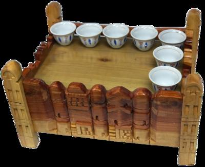 Light Brown Color wood Harar Coffee Rekebot
