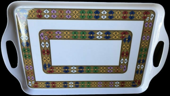 ጠባብ ጥለት ክብረ መስተንግዶ narrow tlet serving tray