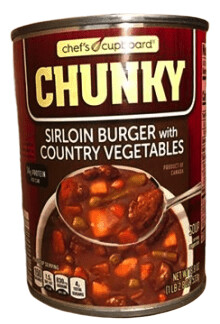 Chunky beef country vegetables soup 2.8oz