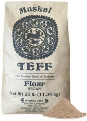 Meskel brown teff flour 25lbs